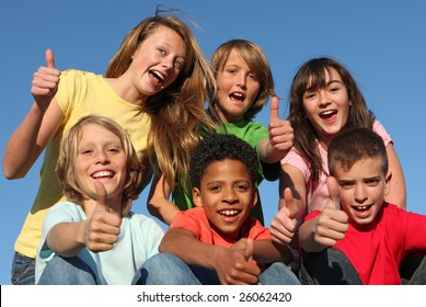 happy positive youth with thumbs up