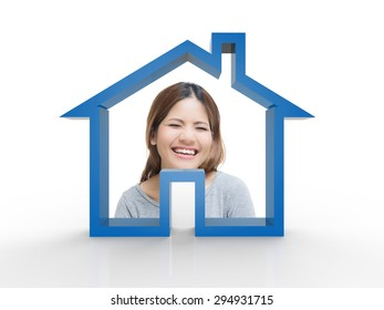happy residential home concept