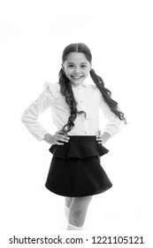 Happy schoolgirl. Hairstyle for schoolgirl nice and easy. Gorgeous tails perfect for every day of week. Cute everyday back to school hairstyles. Schoolgirl happy smiling pupil long curly hair.