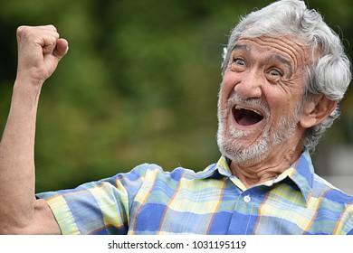Happy Senior Colombian Person