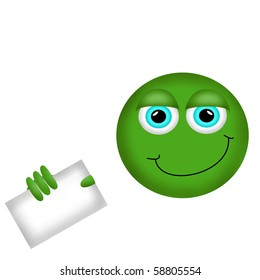 A Happy Smiley Face Button, or Badge, or Icon. Have a nice day! with place for text