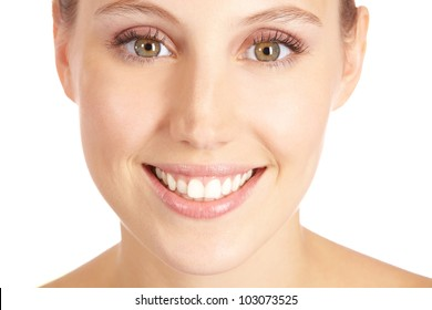 Happy smiling attractive woman looking into the camera