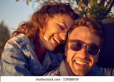 Happy Smiling Couple in love