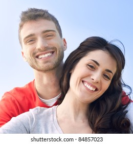 Happy smiling couple outdoor