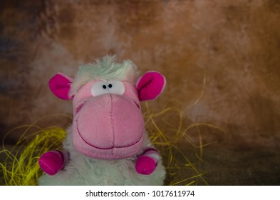 happy smiling Easter sheep toy