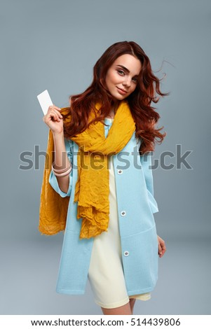 5b22405fd Happy Smiling Fashion Model Girl Fashionable Stock Photo (Edit Now ...