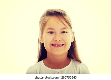 Happy and smiling little girl