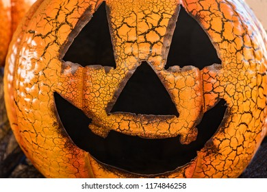 Happy, Smiling Pumpkin, Jack-O-Lantern face for Halloween.