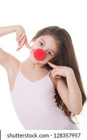 happy smiling red nose day kid