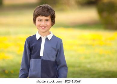 happy smiling summer kid child or boy