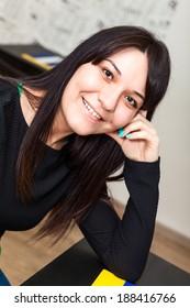 Happy smiling woman portrait