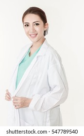 Happy smiling young beautiful female Medical physician doctor