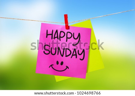 Happy Sunday Motivational Inspirational Quotes Words Stock Photo
