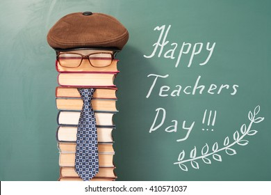 Happy teachers day funny concept