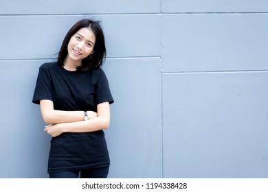 Happy teen high school student