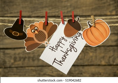 Happy Thanksgiving greeting card or background.