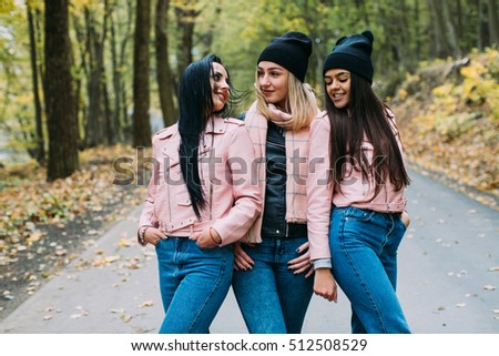Speaking, Three teen girls kissing