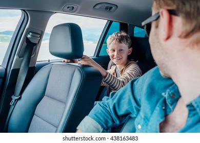 I happy to travel in car with my father