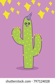 Happy unicorn cactus