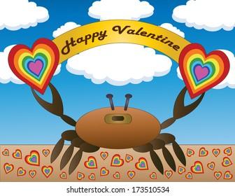 Happy Valentine Crab