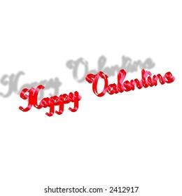 happy valentine sign ribbon