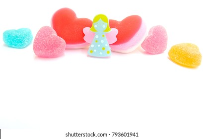 Happy Valentines Day Angel Heart Candies Stock Photo Edit Now