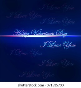 Happy valentine's day card with I love you message