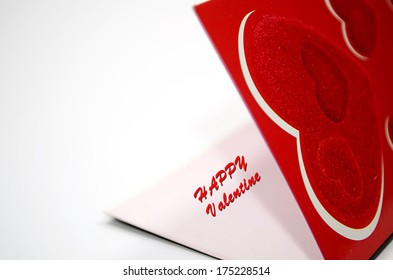 Happy valentines day gift card isolated on white