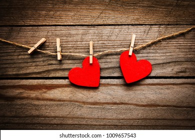 happy valentine's day in love and clothes pegs