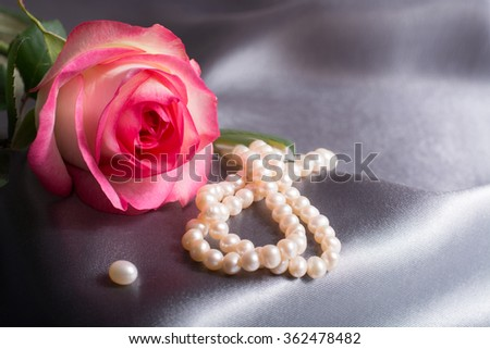 Happy Valentines Day Pink Rose On Stock Photo Edit Now 362478482