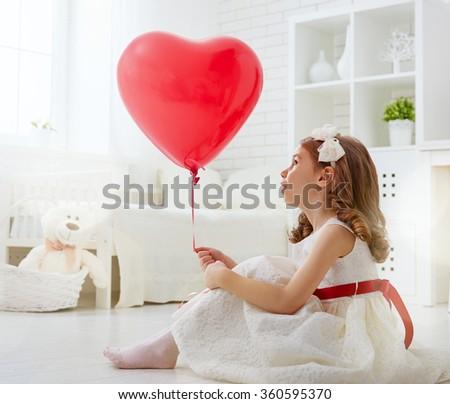 happy valentines day sweet child girl stock photo edit now