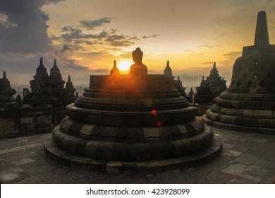 Happy Vesak day at Borobudur Temple Indonesia