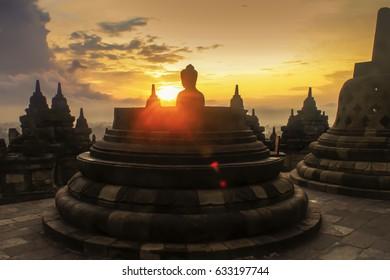 Happy Vesak day at Borobudur Temple Yogyakarta Indonesia