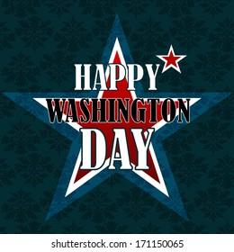 Happy Washington Day American Background