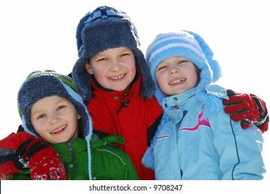Happy winter kids