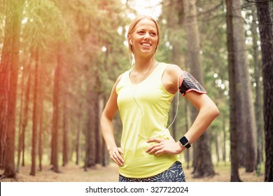 Happy woman after workout