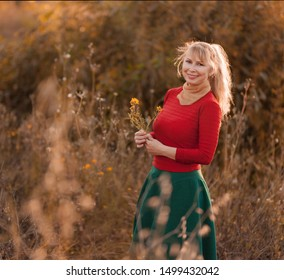 Happy woman enjoying nature and freedom