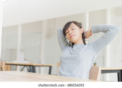 happy woman relax listening music with her headphones, relax concept