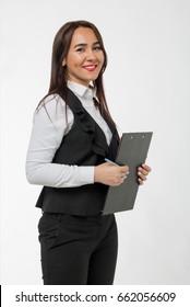 Happy woman work, offcie woman, work team, dream job, finance concept, money idea, business lady