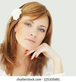 Happy woman - young, beautiful and cheerful