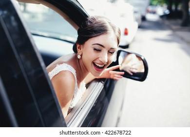 Happy woman's smile
