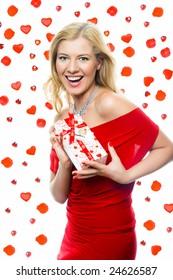 happy woman,valentine day