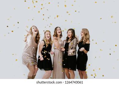 Happy Women Celebrating