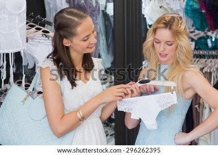 f56d989b3 Happy Women Holding Underwear Shopping Mall Stock Photo (Edit Now ...