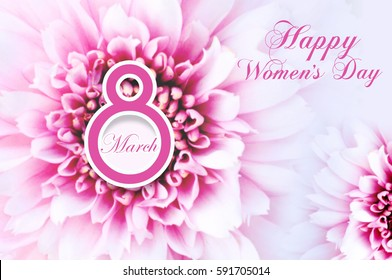 Happy women's day background, Greeting card for women's day,