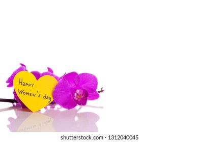 Happy women's day on a white background - stockphoto