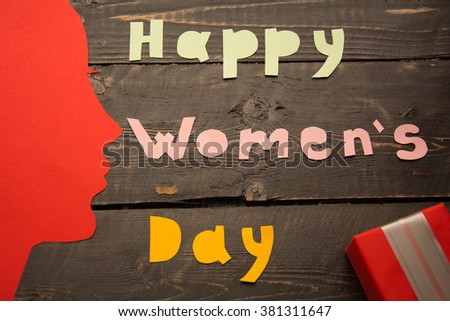 Happy Womens Day Text Laid Out Stock Photo Edit Now 381311647
