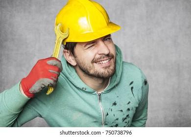 happy worker has a great idea