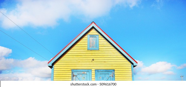 Happy Yellow Blue Red Tiny House