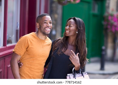 happy young african american couple enjoying their day together.